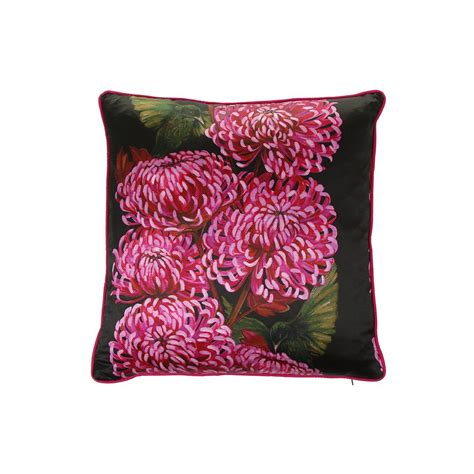 discover  lux bloom chrysanths nuit cushion xcm