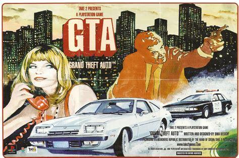 Original Poster For Grand Theft Auto 1.