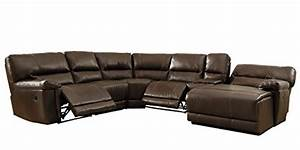 homelegance 6 piece bonded leather sectional reclining With homelegance black leather reclining sectional sofa chaise recliner