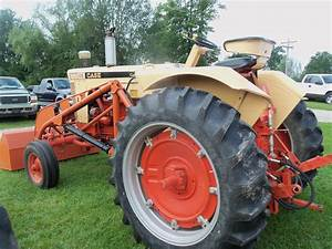 Rear Of Nice Looking Case 830 With Orange Loader