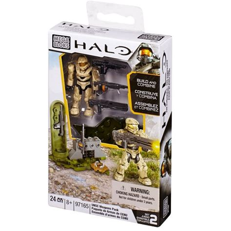 halo mega bloks unsc weapons pack ii  ba toys
