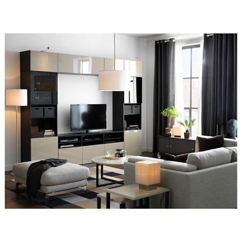 Ikea Beige by Ikea Best 197 Tv Storage Combination Glass Doors Black