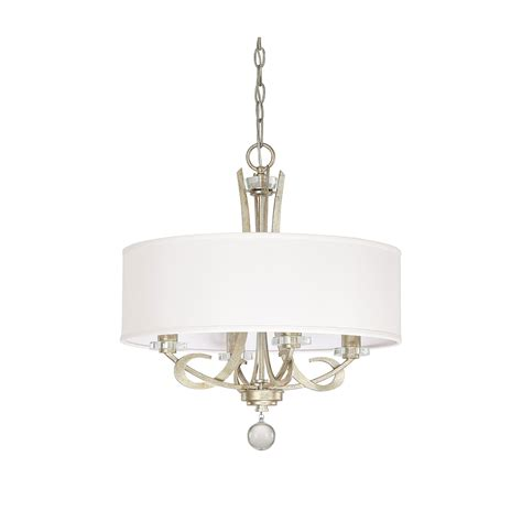 Drum Chandelier by Capital Lighting Fixture Company Hutton Winter Gold Four