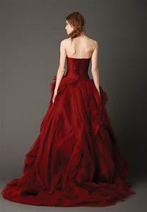 Red wedding dresses vera wang clothing from luxury brands for Wedding dress red