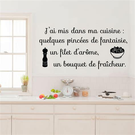 dans ma cuisine sticker citation j 39 ai mis dans ma cuisine stickers citations français ambiance sticker