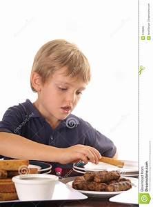 Little Boy Eating Breakfast Royalty Free Stock Photo ...