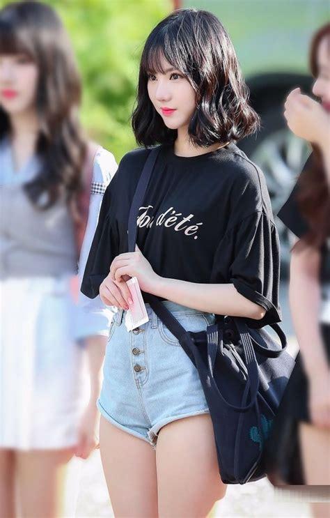 아이돌 허벅지 신흥강자 여자친구 은하 한국 소녀 여성 여자친구