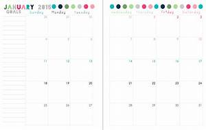 8 best images of 2016 printable 2 page per month planner With 2 page weekly calendar template
