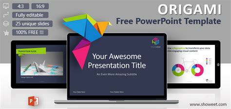Creative Powerpoint Templates Free Origami Creative Powerpoint Template