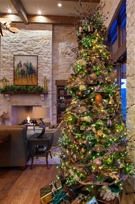 best holiday decorating ideas houzz hill country farmhouse living room by hearn interior design