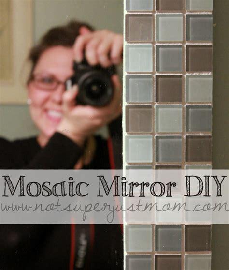 Mosaic Bathroom Mirror Diy by Mosaic Mirror Diy How To Mosaic Tile A Mirror Diy From