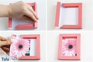 Fotos Aufhängen Ohne Rahmen Ideen : 3d bilderrahmen selber falten origami anleitung ohne kleber ~ Bigdaddyawards.com Haus und Dekorationen