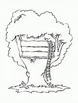 Coloring Tree Pages Magic Treehouse Printable Houses Buildings Architecture Popular Bestcoloringpagesforkids Coloringhome sketch template
