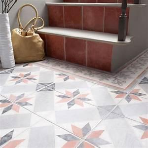 Carreaux De Ciment Castorama : carrelage sol et mur rouge 20 x 20 cm 1930 castorama ~ Melissatoandfro.com Idées de Décoration