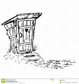 Toilet Outhouse Toilette Drawings Coloring Toletta Wooden Door Clipart Moon Sketch Portable Template Wc sketch template