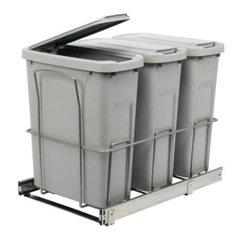 cabinet trash can home depot knape vogt 18 in h x 14 in w x 23 in d steel in
