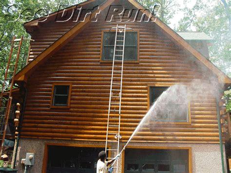 log cabin stain log home maintenance restoration pressure washing md va