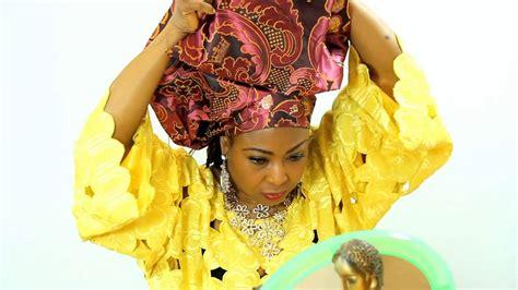 tie gele african head scarf  damask youtube