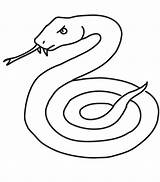 Snake Coloring Printable Cobra Serpent Snakes Realistic Coloriage Mamba Animal Animals Sheet Drawing Dessiner Reptile Clipart Sea Outline Sheets Dessin sketch template