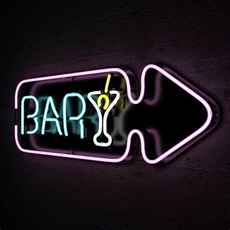 neon bar lights 3d neon lights bar sign model