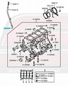 Mitsubishi Oem Engine Oil Dipstick O Dsm