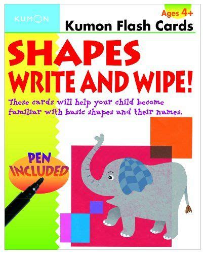 shapes write  wipe kumon flash cards