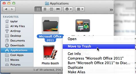 Completely Remove Microsoft Office 2010 From My Mac?