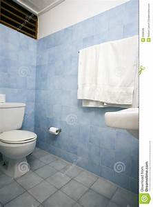 Bathroom with blue tile stock photo Image of bathroom