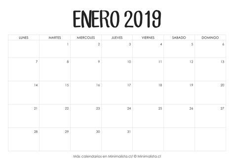 calendarios imprimir minimalista