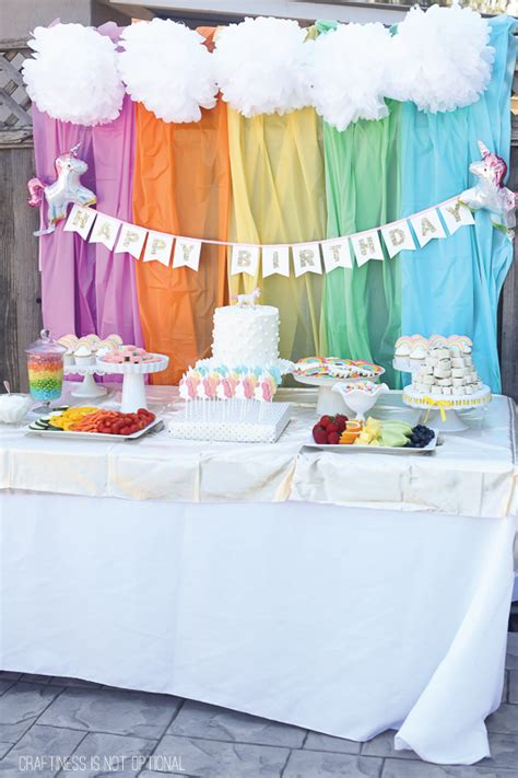 magical unicorn birthday party birthday party unicorn and rainbow birthday party
