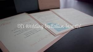 diy wedding invitation inserts wedding planning youtube With diy wedding invitations with inserts