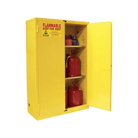 safety flammable cabinet fm 45 gallon manual door