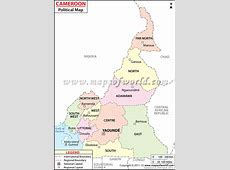 Cameroon Cities Map, Major Cities in Cameroon