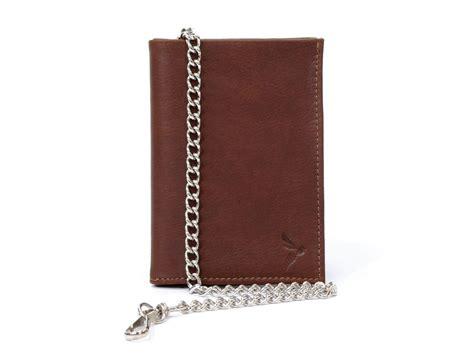bureau des permis de conduire portefeuille en cuir gold avec une chaine argentée pour