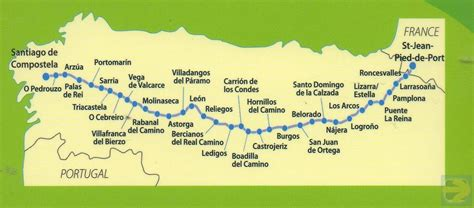 camino frances camino frances map camino de santiago map map