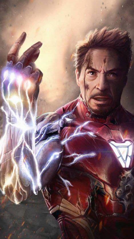 iron man endgame tony stark snap iphone wallpaper