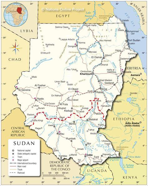 Nubian Desert Map Africa