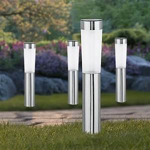 starlux solarleuchten set big mit erdspiess 4 stk 8 h With französischer balkon mit design solarleuchten garten
