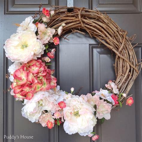 diy front door wreaths 2014 diy spring wreath puddy s house