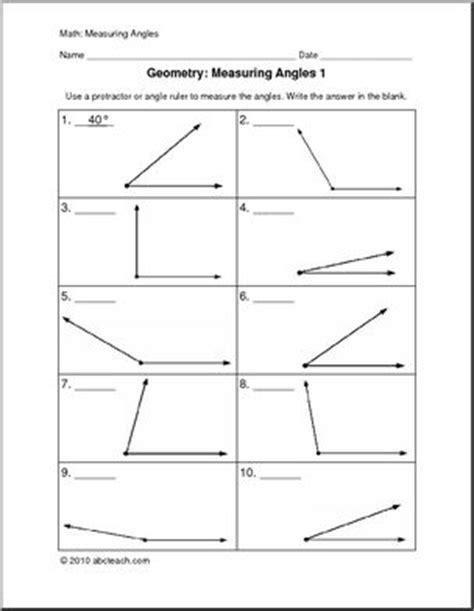 Measuring Angles (upper Elem) Worksheets Abcteach