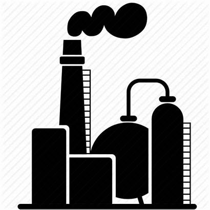 Oil Factory Refinery Icon Energy Fuel Clipart
