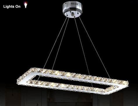 lustre de cuisine moderne livraison gratuite rectangle design moderne led lustre en cristal pour salle de cuisine lustres