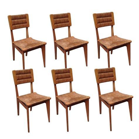 chaises es 50 6 chaises vintage paillées marcel gascoin ées 50