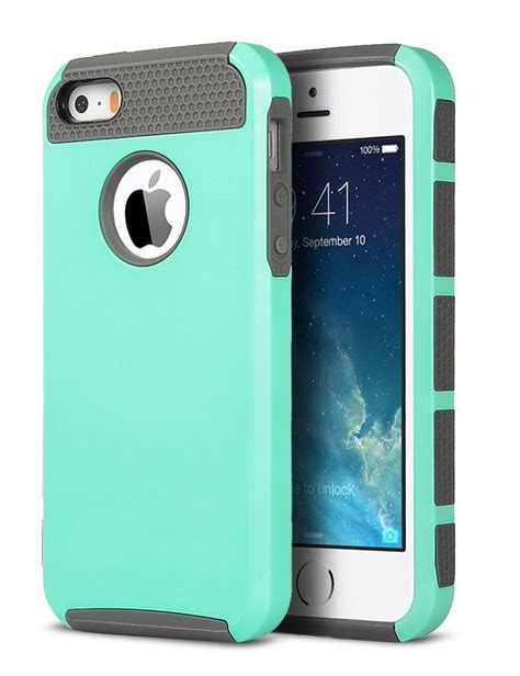 cases for iphone 5s shockproof rugged hybrid rubber cover for apple