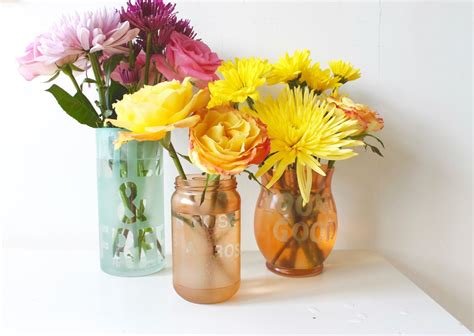Flowers For Vases by Colorful Etched Vases With Flower Puns And Sayings