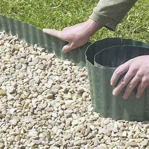 Bordure Plastique Jardin : bordure d rouler plastique vert x cm leroy ~ Premium-room.com Idées de Décoration
