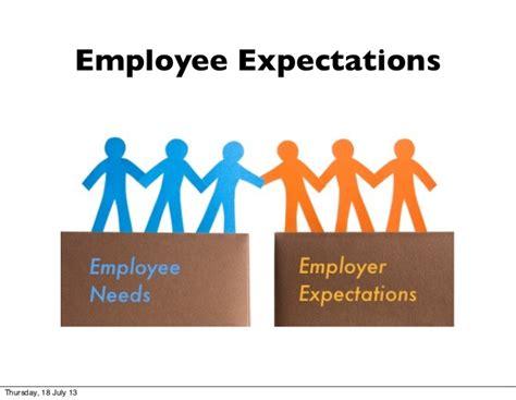 employee expectations employee expectations