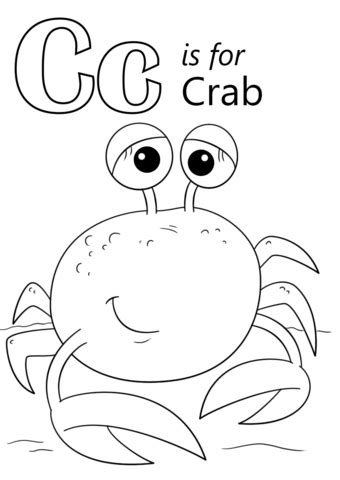letter    crab coloring page  printable coloring pages