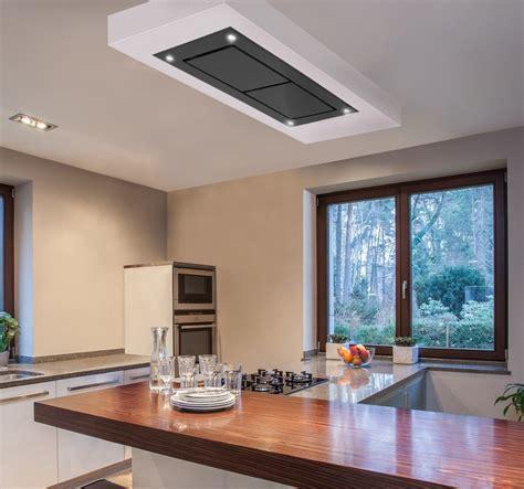 Dusk T1 100cm Designer Black Glass Ceiling Cooker Hood