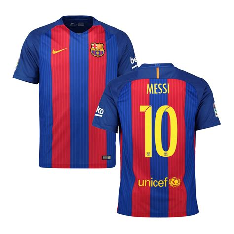 Nike Lionel Messi Barcelona Youth 201617 Home Replica Jersey